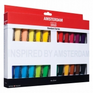Набор акриловых красок AMSTERDAM STANDART Голландия 24 цвета 20 мл