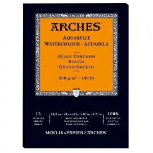 Альбом-склейка для акварели 12л Arches Rough Grain 300 г/м 14,8x21 см
