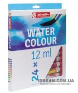 Набор акварельных красок 24 цвета Art Creation в тубах 12 мл