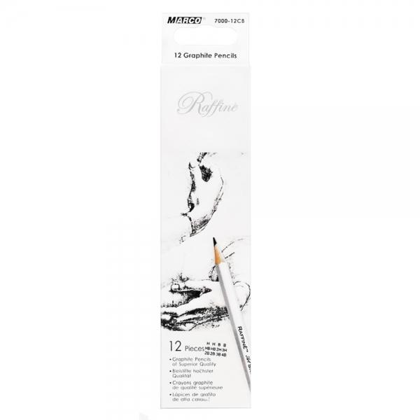 Карандаши  графитные 12 шт. mix Raffine Marco