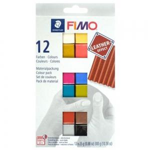 Набор пластики Fimo 12х25гр Leather-effect Colours (8013C12-2)