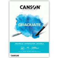 Блок бумаги для акварели Canson Graduate Watercolour CP 250 г/м2 А3 29,7х42 см 20л. (0110-375)