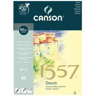 Альбом для набросков на спирали Canson 1557 Dessin 180 гр A5 30л. (4127-422)