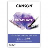 Блок бумаги для миксованные техник Canson Graduate Mix Media White 200 гр А5 14,8х21 см 20 л. (0110-376)