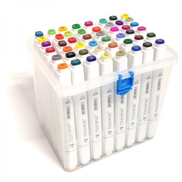 Набор маркеров Touch Five в пластиковом боксе 48 цветов