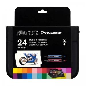 Набор двухсторонних маркеров Winsor&Newton Promarker, 24 цвета