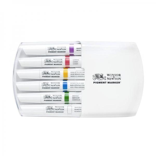 Набор двухсторонних маркеров, Pigment marker, Сочные тона, 6 цветов