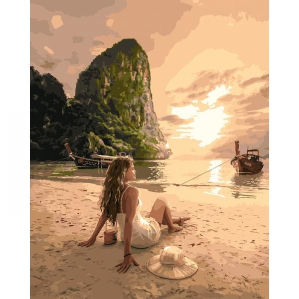Картина по номерам Идейка 40х50см Влюблена в море (КНО4592)