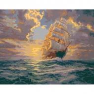 Картина по номерам Идейка 40х50см Рассвет под парусами (КНО2715)