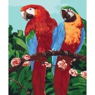 Картина по номерам Идейка 40*50см Королевськие попугайчики (КНО4051)
