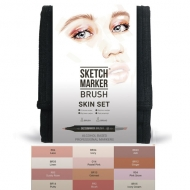 Набор маркеров SKETCHMARKER BRUSH 12 Skin Set - Оттенки кожи (12 маркеров + сумка органайзер) (SMB-12SKIN)