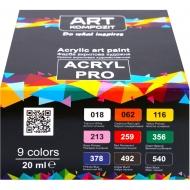 Набор акриловых красок Art Kompozit 9 цветов 20 мл (20173)