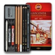 Набор художественный GIOCONDA 8890 10 предметов в мет. пенале