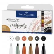 Набор ручек Faber-Castell PITT CALLIGRAPHY 6шт (28952)