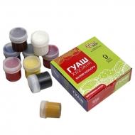 Набор гуашевых красок ROSA Studio 9 цветов 20 мл баночки в картоне