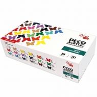 Набор акриловых красок для декора Rosa Talent  матовый 18 цветов 20 мл баночки в картоне (90747264)