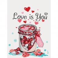 Картина по номерам Идейка 30х40см Love is you (КНО5526)