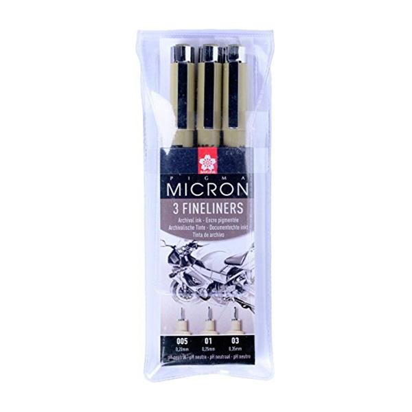 Набор линеров Pigma Micron DESIGN, 3 шт