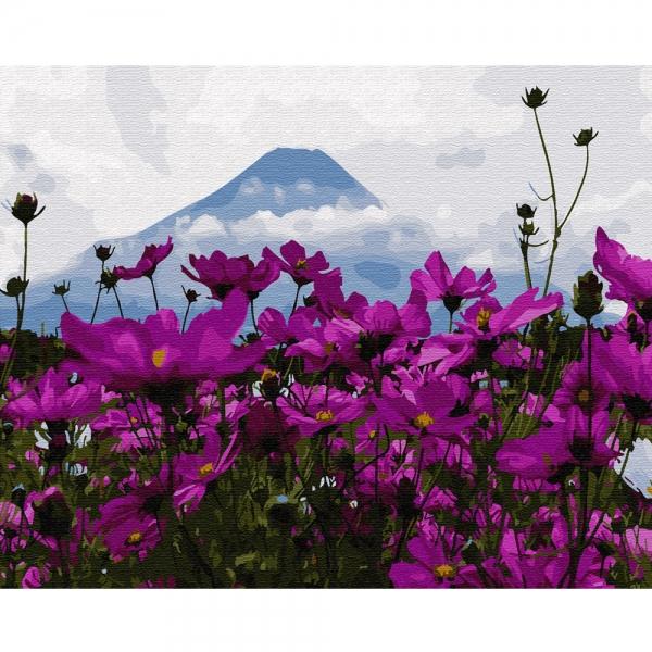 Картина по номерам BrushMe 40*50см Цветы у горы Фуджи (GX29434)