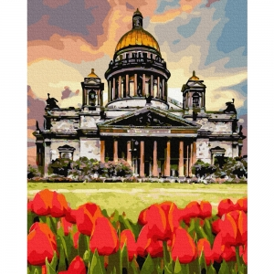 Картина по номерам BrushMe 40*50см Тюльпаны у берлинского собора (GX36522)