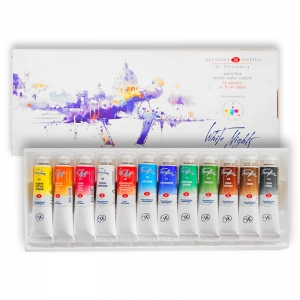 Набор акварельных красок Белые ночи 12 цветов в тубах IWS