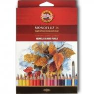 Набор цветных акварельных карандашей Mondeluz 36 шт.