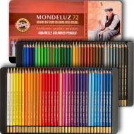 Набор акварельных карандашей Koh-i-Noor Mondeluz в металлическом пенале 72 шт. (372707)