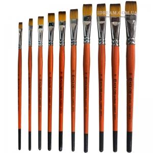 Кисти синтетические плоские KOLOS Carrot 1097F