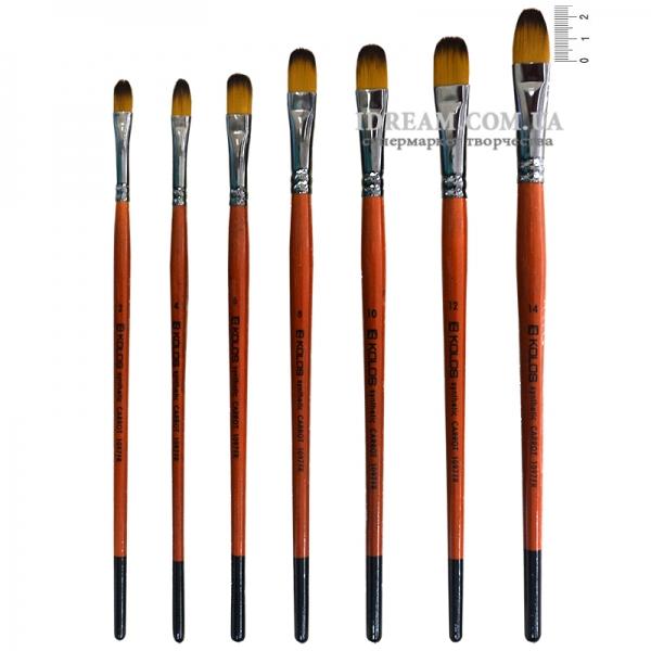 Кисти синтетические овальные KOLOS Carrot 1097FR