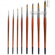 Кисти синтетические круглые KOLOS Carrot 1097R