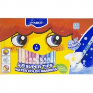 Фломастеры 48 цветов Super Washable Marco