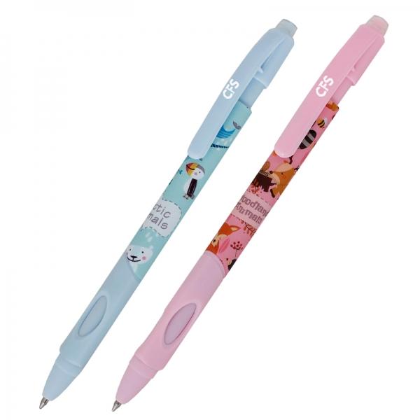 """Ручка гелевая """"пиши-стирай"""" Animal World автоматическая синяя"""