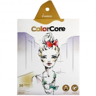 Карандаши цветные ColorCore 36 цветов + 1 графитный HB