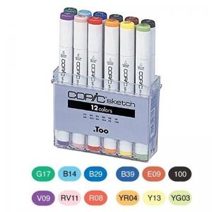 Набор маркеров COPIC Sketch Set, 12 цветов