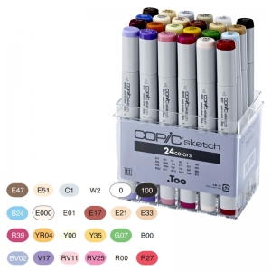 Набор маркеров COPIC Sketch Set, 24 цвета