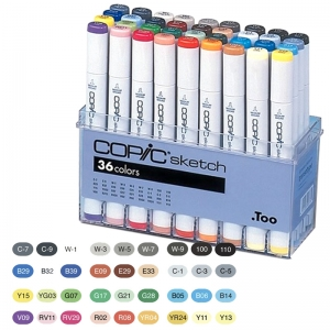 Набор маркеров COPIC Sketch Set (A), 36 цветов