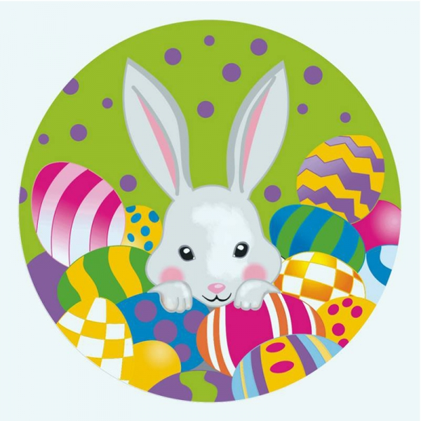 "Полотно на картоне с контуром ""Весенний кролик"" 20*20 ROSA"