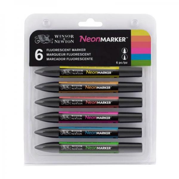 Набор двухсторонних маркеров (Неон) 6 цв., W&N