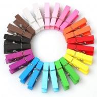 Прищепки декоративные цветные 10 штук