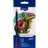 Набор карандашей шестигранных Marco Chroma 12 цветов (8010-12CB)