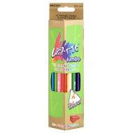 Карандаши 12 цветов треугольные Jumbo с точилкой Grip-Rite Marco
