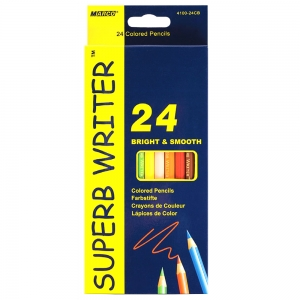 Карандаши  24 цвета шестигранные, Superb Writer,  Marco (4100-24)