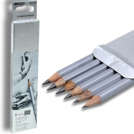 Карандаши  графитные 6 шт. шестигранные НВ - 8В Raffine Marco