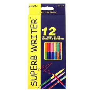 Карандаши  двухсторонние 12 шт 24 цвета Super  Writer Marco