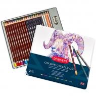 Набор цветных карандашей Colour Collection 24 предмета в метал. кейсе Derwent