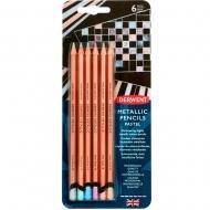 Набор цветных карандашей Metallic Pastel, 6 цв. Derwent