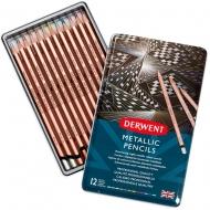 Набор цветных карандашей Metallic, 12 цв. металлический кейс Derwent