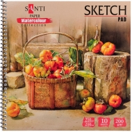 Альбом для акварели Santi Botanic А5 Paper Watercolour Collection 200г/м2 10 л. (742835)