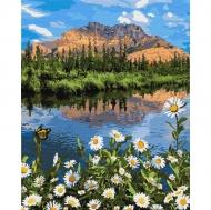 Картина по номерам Идейка 40х50см Горный пейзаж (КНО2833)