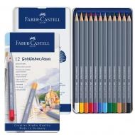 Набор акварельных карандашей Faber-Castell GOLDFABER 12 цв. метал.упаковка (27637)